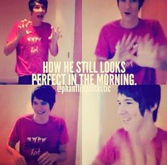 It's honestly not fair. When I wake up, I look like a zombie from the walking dead>>>I look like Gollum plus bed hair Daniel James Howell, Dan Howell, Phan Is Real, Dan And Phill, Phil 3, Danisnotonfire And Amazingphil, Tyler Oakley, Phil Lester, Best Youtubers