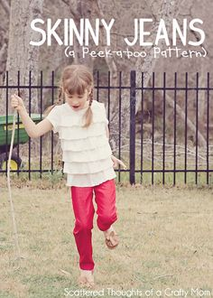 Scattered Thoughts of a Crafty Mom: Skinny Jeans Pattern