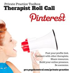 Therapist Roll Call Pinterest List! Connect with other mental health professionals