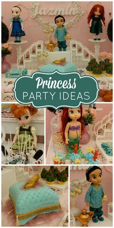 An adorable baby princess girl birthday party with cake pops, cupcakes and fun party decorations!  See more party planning ideas for CatchMyParty.com!