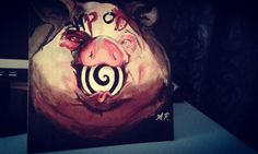 Pig drawing coppied from Michael Hussar. <3