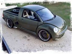 VW bug truck. Clever execution.