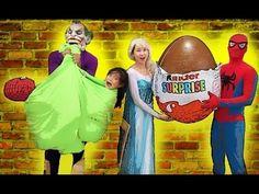 #Joker vs Catwomen Thief Giant Surprise Eggs of Elsa vs Spiderman baby -...