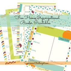 Home Organization Binder Printables
