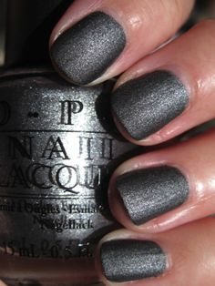Charcoal gray nails with a hint of shimmer- fabulous!