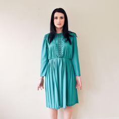 Fab.com | Kelly Green '70s Dress