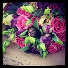 Tulips, roses, lisianthus