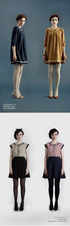 Oh So Lovely Vintage: Dear Creatures Fall 2012 Collection...this style to knees with dark tights? might be kinda cute