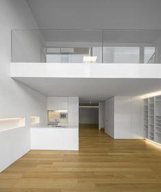 Lapa Building by João Tiago Aguiar, photo: Fernando Guerra Loft Interior Design, Home Room Design, Loft Design, Tiny House Design, Design Case, Modern House Design, Design Design, Loft House, House Rooms