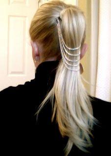 DIY Kim Kardashian pony hair jewelry tutorial.