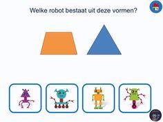 In deze app gaan kleuters aan de slag om verschillende rekenkundige begrippen te leren met als overkoepelend thema robots.