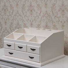 Caja de joyería de gran vestidor de madera cajas de clasificación de escritorio caja de almacenamiento de montaje en armario del cajón organizador de maquillaje caja de regalo