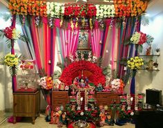 Ganesh Chaturthi Decoration Idea 39 S For Home Decoration Makhar Flower Thermocol Http Www