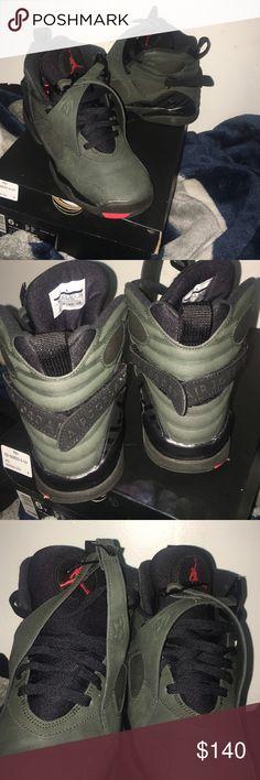 Jordan 8 sequioa Size 6Y fits a 8 in womens.  Worn 3 times great condition. Jordan Shoes Sneakers