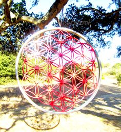 Flower of Life by Mountain Mandalas http://www.sacredgeometryart.com/mountain-mandalas/