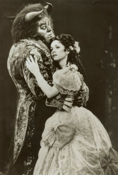 Terrence Mann and Susan Egan in the original Broadway cast of Beauty and the Beast Music Box Theater, Musical Theatre, Terrence Mann, Betty Garrett, Susan Egan, Victoria Clark, Disney Songs, Disney Stuff, Disney Movies