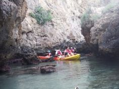 Kayak routes on the Mediterranean sea and in lakes in Malaga Surf, Nerja, Mediterranean Sea, Spain Travel, Paddle, Lakes, Kayaking, Poland, Boat