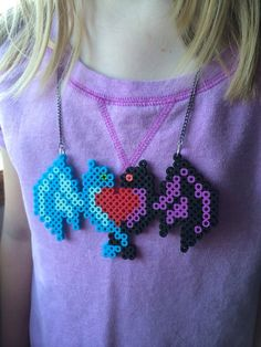 Hey, I found this really awesome Etsy listing at https://www.etsy.com/listing/199485713/double-dragon-love-necklace-perler-beads