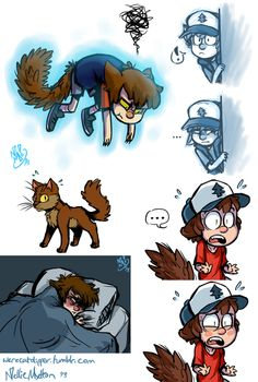 OH MY GOODNESS I WASNT EXPECTING AN ADORABLE NEKO DIPPER HERE AWWWWWWW!!!!
