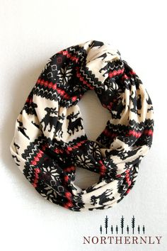 Nordic Scarf, Sweater Knit Infinity Scarf. So fun!