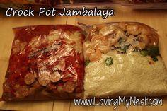 Crock-pot Jambalaya - Freezer meal