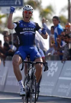 Dubai Tour 2016 stage 1 Marcel Kittel celebrates his victory (Getty Images)