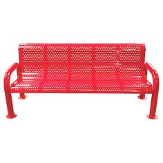 Commercial Leisure Craft U-Leg Perforated Outdoor / Park Bench (Select Your Color!)