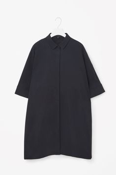 COS image 12 of Oversized shirt dress in Navy