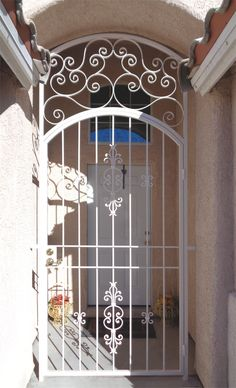 Exceptional Wrought Iron Entry Gate