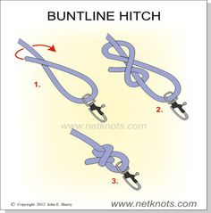 Buntline Hitch - Use this knot to fasten items such as snaps and rings to lines