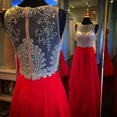 Red Prom DressDeep V Prom Dress High Collar Dress, Beading Prom Dress Long Prom Dress Fashion Prom Dresses Prom Dress Cocktail Evening Gown For Wedding Party Homecoming Dresses Long, Prom Dresses For Teens, A Line Prom Dresses, Short Prom, Pageant Dresses, Teen Dresses, Prom Long, Grad Dresses, Dresses Dresses