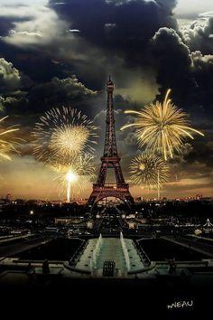 Fireworks Over Paris