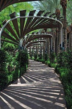 The pergola kits are the easiest and quickest way to build a garden pergola. There are lots of do it yourself pergola kits available to you so that anyone could easily put them together to construct a new structure at their backyard. Garden Structures, Garden Paths, Garden Art, Walkway Garden, Garden Arches, Outdoor Walkway, Downtown Phoenix, Shade Structure, Beer Garden