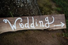 cute wedding sign. Photography: Mindy Sonshine