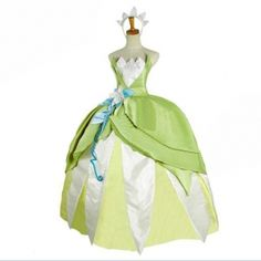 Find 4 people halloween costumes, group costumes for 6 and costume theme and they are gathered here for your choice. The gorgeous tailor-made the princess and the frog princess tiana cosplay costume provide by mangod gives you whatever you want. Princess Tiana Costume, Tiana Dress, Disney Princess Tiana, Frog Princess, Princes Dress, Princess Gowns, Costumes For Sale, Adult Costumes, Tiana Halloween Costume