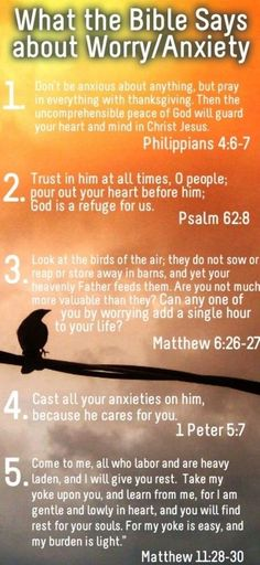 Good Bible verses to memorize. Christian faith Scripture for spiritual comfort, encouragement and inspiration to help with anxiety, worry, stress. Worry Bible Verses, Bible Scriptures, Scriptures On Stress, Bible Quotes About Worry, Worrying Quotes Bible, Do Not Worry Scripture, Motivational Scriptures, Bible Prayers, Inspiring Words