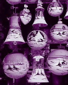 Purple Christmas Ornaments!