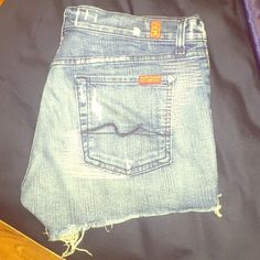 Se7en for all mankind denim shorts Cute cutoffs made by se7en. #28 Seven7 Shorts Jean Shorts