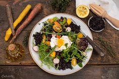 Frühlings Reissalat Ethnic Recipes, Food, Black Rice, Egg Benedict, Recipes, Essen, Meals, Yemek, Eten