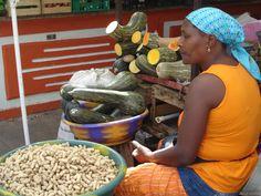 Market stall, Praia, Cape Verde  photo by Stella Harpley