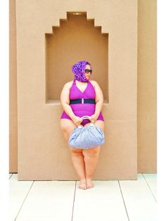 {Plus Size Swimsuit Post #2} REAL Curvy Girl inspiration from Chastity Valentine, her blog: The Curvy Girl's Guide To Style