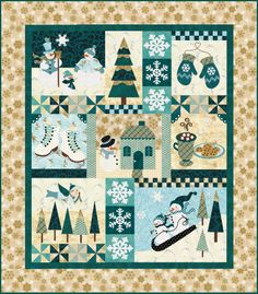 Blessings of Winter Block of the Month - Stitchin' Heaven is your premier Texas quilt shop