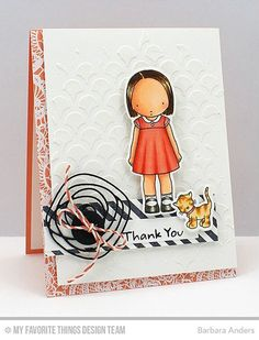 Handmade card from Barbara Anders featuring the PI Feline Better stamp set and Die-namics #mftstamps