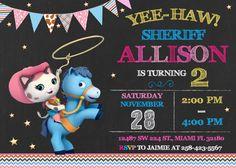 Sheriff Callie invitación cumpleaños Sheriff Callie por LuckyPixel