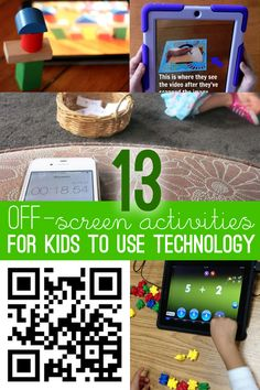 13 Activities for Kids Using Technology Off-Screen 13 activities for kids using technology, but in an off-screen way! 13 activities for kids using technology, but in an off-screen way! Fun Activities For Kids, Hands On Activities, Educational Activities, Educational Technology, Preschool Activities, Steam Activities, Instructional Technology, Family Activities, Best Learning Apps