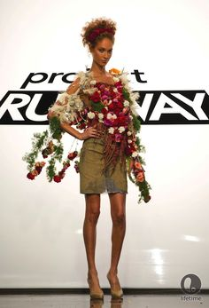 Patricia Michaels week 4 'powwow chic' look on Project Runway