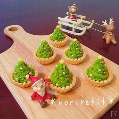 クリスマスに!簡単・かわいい抹茶スイートポテトのツリータルト