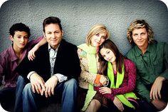 family photo, family of five portrait, three children, pose, posing