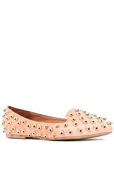 The Martini Bee Shoe in Nude and Gold by Jeffrey Campbell $215.00 onsale for $124.95