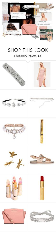"""""""Crystal Glory"""" by pandatheod ❤ liked on Polyvore featuring 1928, Missguided, Witchery, Natasha, L'Oréal Paris, Dolce&Gabbana, Too Faced Cosmetics, MICHAEL Michael Kors and Jenny Packham"""